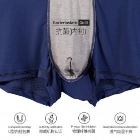 AOELEMENT Celana Dalam Boxer Pria Breathable Ice Mesh Hole Size L - AO500 - Black - 6