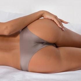 Bugalow Celana Dalam Wanita Ice Silk Seamless Sport Low Waist Underwear Size L - L9380 - Cream - 3