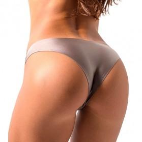 Bugalow Celana Dalam Wanita Ice Silk Seamless Sport Low Waist Underwear Size L - L9380 - Cream - 4