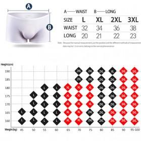 AOELEMENT Celana Dalam Boxer Pria Ice Silk Male Panties Size L - ZU138 - Black - 6