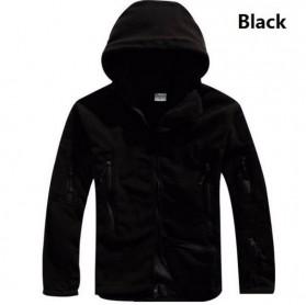 ARCHONSHIP Jaket Gunung Anti Dingin Windproof Model Army Pria Size L - Black