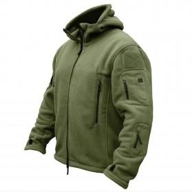 DAFEILI Jaket Gunung Anti Dingin Windproof Model Army Pria Size XL - Green - 6
