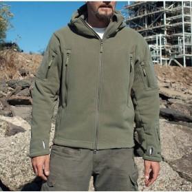DAFEILI Jaket Gunung Anti Dingin Windproof Model Army Pria Size XL - Green - 7
