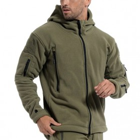 DAFEILI Jaket Gunung Anti Dingin Windproof Model Army Pria Size XL - Green - 8
