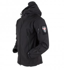 Mazerout Jaket Gunung Hiking Military Field Jacket Waterproof Windproof Size XL - VA005 - Black