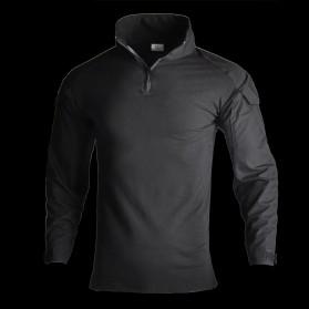 HAN WILD Pakaian Baju Airsoft Paintball Military Clothing Long Sleeve Size XL - HW01 - Black