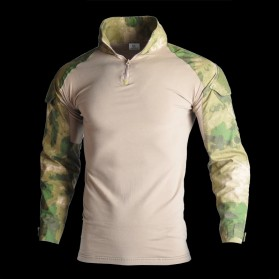 HAN WILD Pakaian Baju Airsoft Paintball Military Clothing Long Sleeve Size L - HW01 - Camouflage
