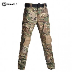 HAN WILD Celana Airsoft Paintball Military Pants With Protector Size 32 - HW01 - Camouflage