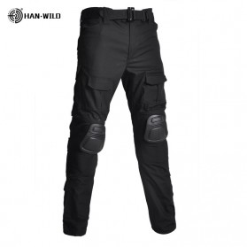 HAN WILD Celana Airsoft Paintball Military Pants With Protector Size 32 - HW01 - Black
