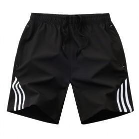 SULEE Celana Pendek Olahraga Pria Casual Jogging Fitness Size XL - SE01 - Black