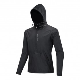 WOSAWE Jaket Olahraga Sepeda Cycling Jacket Windproof Waterproof Size L - BL245 - Black
