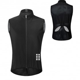 WOSAWE Jaket Olahraga Sepeda Cycling Jacket Windproof Waterproof Size M - BL221 - Black