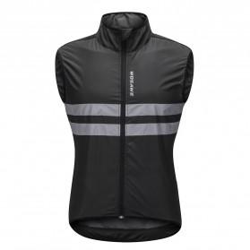 WOSAWE Jaket Olahraga Sepeda Cycling Jacket Windproof Waterproof Size M - BL205 - Black