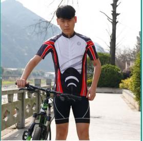 Wheel Up Racing Suit Baju Pakaian Olahraga Pria Short Sleeve Men Size XL - LX1901 - Blue - 7