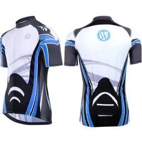 Wheel Up Racing Suit Baju Pakaian Olahraga Pria Short Sleeve Men Size L - CC1604 - Blue