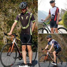 Wheel Up Racing Suit Baju Pakaian Olahraga Pria Short Sleeve Men Size L - CC1604 - Blue - 4