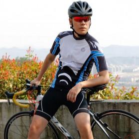 Wheel Up Racing Suit Baju Pakaian Olahraga Pria Short Sleeve Men Size L - CC1604 - Blue - 8