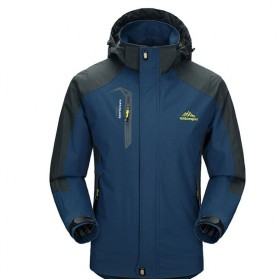 Pakaian Pria Terbaru Keren - Diamond Candy Mountainskin Jaket Gunung Hiking Jacket Waterproof Windproof Size XL - VA002 - Dark Blue