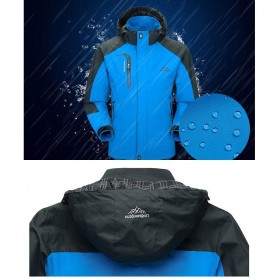Diamond Candy Mountainskin Jaket Gunung Hiking Jacket Waterproof Windproof Size XL - VA002 - Dark Blue - 2