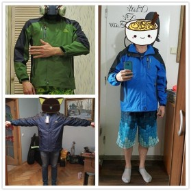 Diamond Candy Mountainskin Jaket Gunung Hiking Jacket Waterproof Windproof Size XL - VA002 - Dark Blue - 7