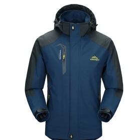 Trend Fashion Pria Terbaru - KISCHERS Mountainskin Jaket Gunung Hiking Jacket Waterproof Windproof Size XXL - VA002 - Dark Blue