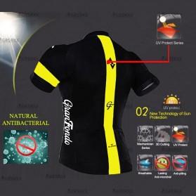 STRAVA Baju Pakaian Olahraga Sepeda Pria MTB Cycling Jersey Short Sleeve Men Size XXL - CM-DY-256 - Black - 3