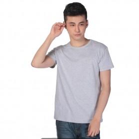 Kaos Polos Katun Pria O Neck Size M - 86102 / T-Shirt - Gray - 1
