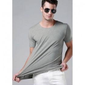 Kaos Polos Katun Pria O Neck Size M - 86102 / T-Shirt - Gray - 3