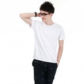 Kaos Polos Katun Pria O Neck Size M - 86102 / T-Shirt - White - 1