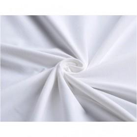 Kaos Polos Katun Pria O Neck Size M - 86102 / T-Shirt - White - 4