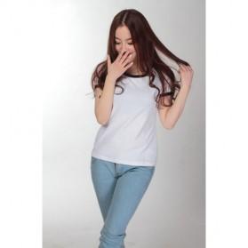 Kaos Polos Katun Wanita O Neck Size S - 86201 / T-Shirt - Black - 2