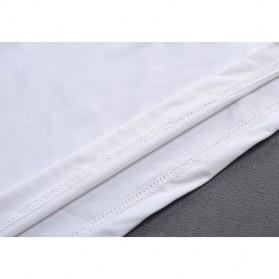 Kaos Polos Katun Wanita O Neck Size S - 86201 / T-Shirt - Black - 4