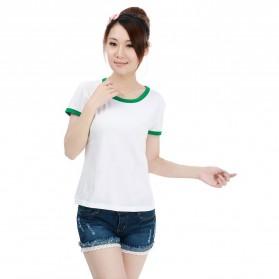 Kaos Polos Katun Wanita O Neck Size S - 86201 / T-Shirt - Green