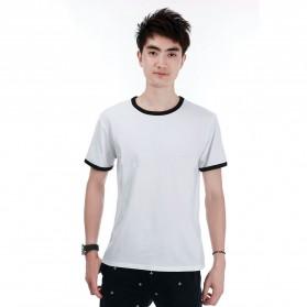 Kaos Polos Katun Pria O Neck Size M - 86202 / T-Shirt - Black - 1