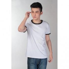 Kaos Polos Katun Pria O Neck Size M - 86202 / T-Shirt - Black - 2