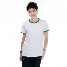 Kaos Polos Katun Pria O Neck Size M - 86202 / T-Shirt - Green - 1