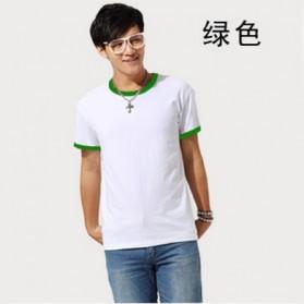 Kaos Polos Katun Pria O Neck Size M - 86202 / T-Shirt - Green - 2