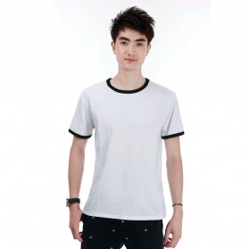 Kaos Polos Katun Pria O Neck Size L - 86202 / T-Shirt - Black