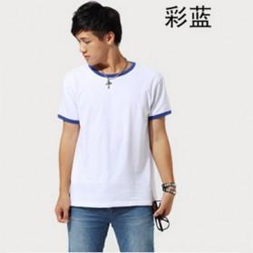 Kaos Polos Katun Pria O Neck Size L - 86202 / T-Shirt - Blue - 2