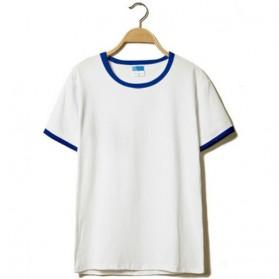 Kaos Polos Katun Pria O Neck Size L - 86202 / T-Shirt - Blue - 3