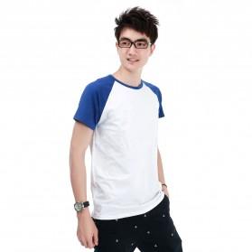 Kaos Polos Katun Pria O Neck Size M - 86205 / T-Shirt - Blue - 1