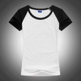 Kaos Polos Katun Pria O Neck Size M - 86205 / T-Shirt - Blue - 4