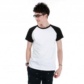 Kaos Polos Katun Pria O Neck Size L - 86205 / T-Shirt - Black