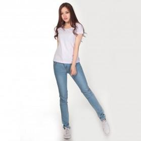 Kaos Polos Katun Wanita U Neck Size S - 81301 / T-Shirt - White