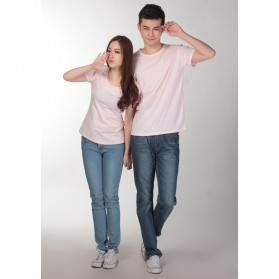 Kaos Polos Katun Wanita U Neck Size M - 81301 / T-Shirt - Purple - 2