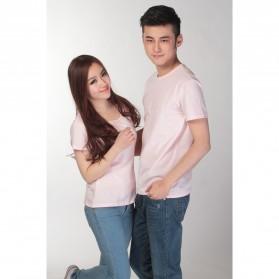 Kaos Polos Katun Wanita U Neck Size M - 81301 / T-Shirt - Purple - 3