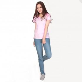 Kaos Polos Katun Wanita U Neck Size L - 81301 / T-Shirt - Purple