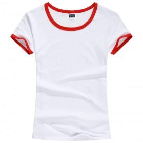 Kaos Polos Katun Wanita Lengan Pendek O Neck Size XL - 85605 / T-Shirt - Red