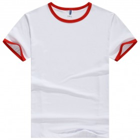 Kaos Polos Katun Pria Lengan Pendek O Neck Size S - 85606 / T-Shirt - Red