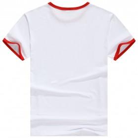 Kaos Polos Katun Pria Lengan Pendek O Neck Size S - 85606 / T-Shirt - Red - 2
